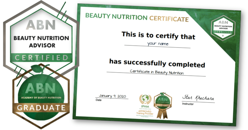 Certificate in Beauty Nutrition (accredited)