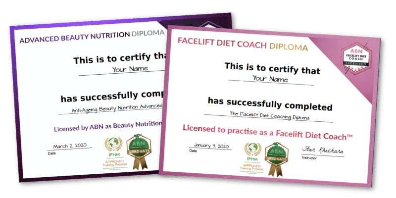 Facelift Diet Coaching Diploma - certificate graphic