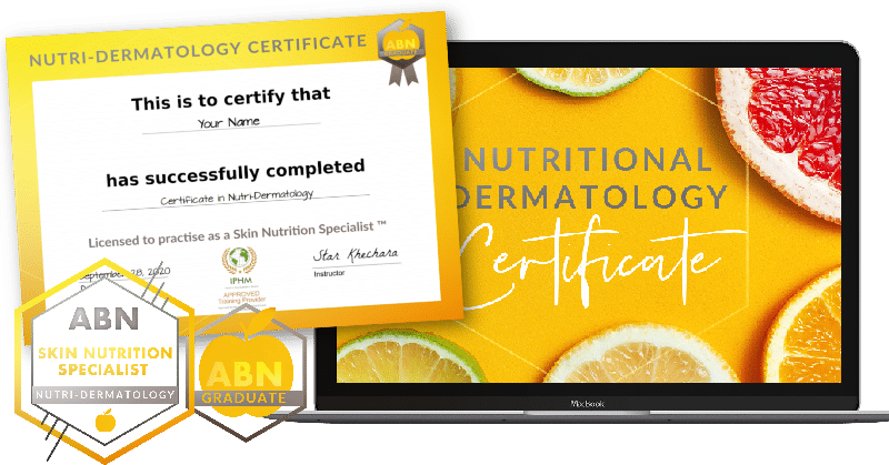 Certificate in Nutritional Dermatology - ecourse graphic