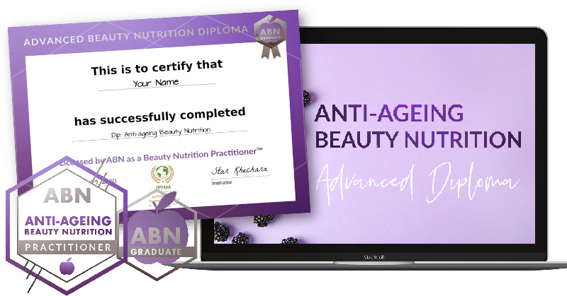 Diploma in Anti-ageing Beauty Nutrition - course graphic