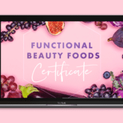 Courses in anti-ageing skin nutrition - course page graphic