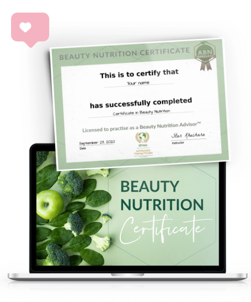 Certificate in Beauty Nutrition - ecourse graphic