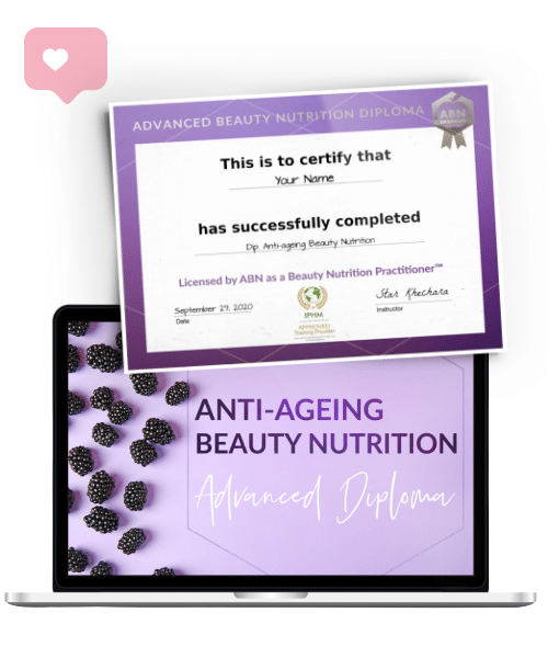 Advanced Diploma in Anti-Ageing Beauty Nutrition - ecourse graphic