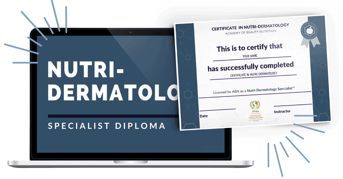 Diploma in Nutridermatology ecourse graphic